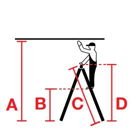 Универсальная шарнирная лестница с перекладинами