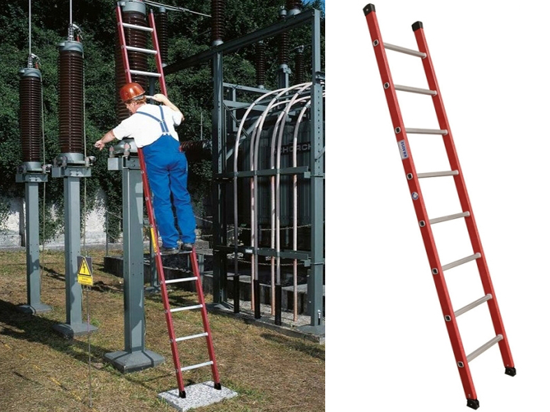 Диэлектрическая приставная лестница