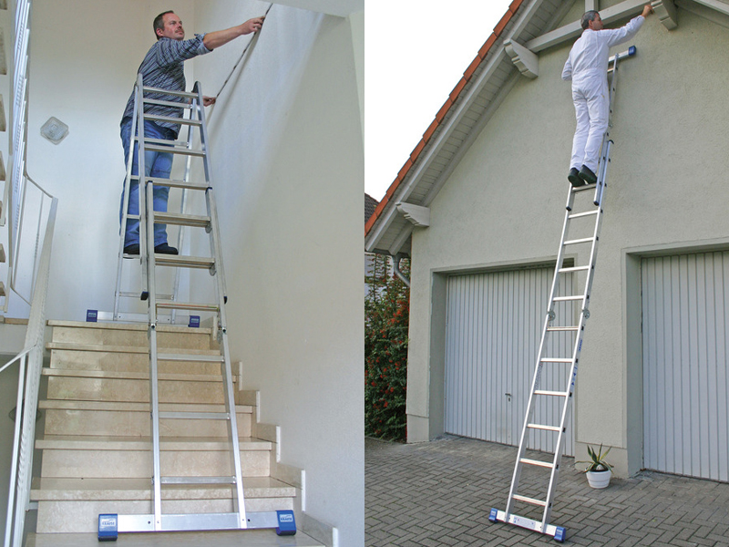 Комбинированная шарнирная лестница с перекладинами