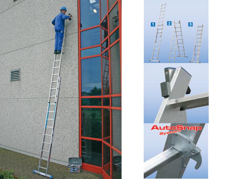 Универсальная лестница-трансформер с перекладинами, двухсекционная