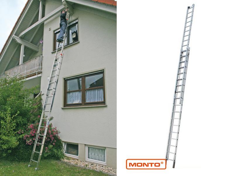 Двухсекционная лестница с перекладинами, выдвигаемая тросом Robil