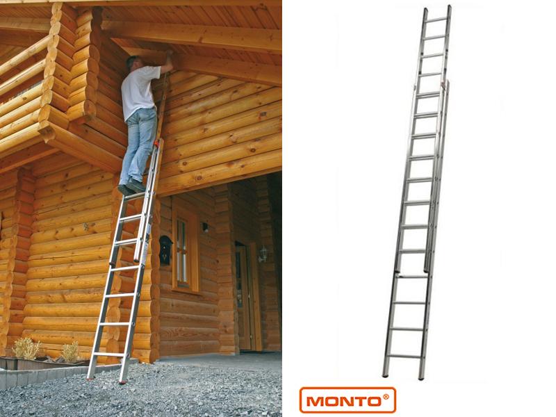 Двухсекционная раздвижная лестница с перекладинами Fabilo