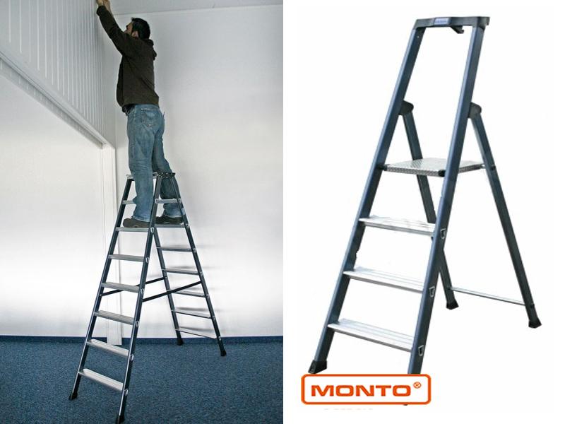 Двухсторонняя лестница-стремянка SePro®D с анодированным покрытием
