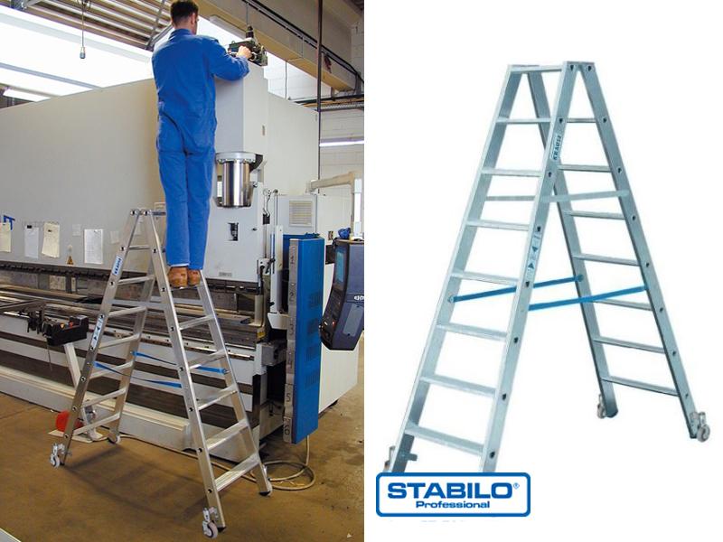 Передвижная двухсторонняя лестница-стремянка