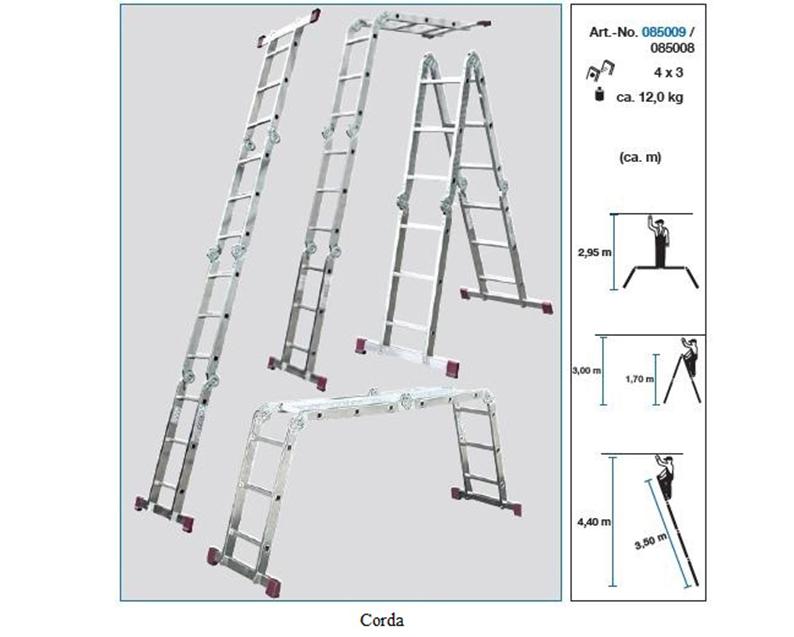 Шарнирная универсальная лестница