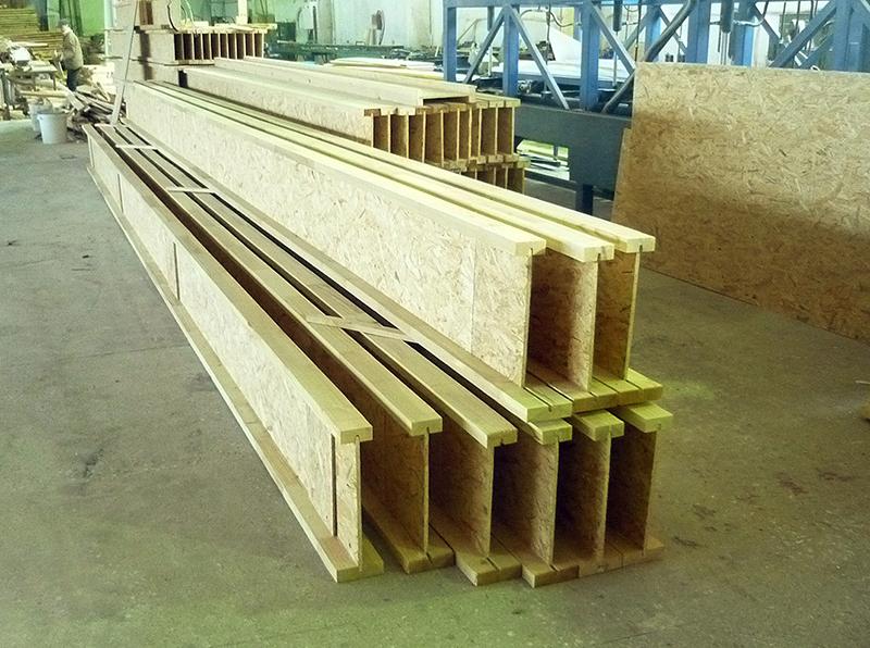 Двутавровая деревянная балка