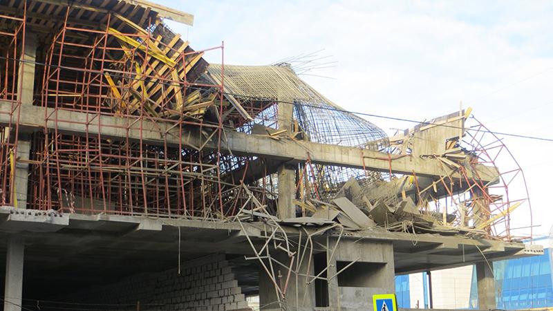Обрушение опалубочных конструкций в Москве