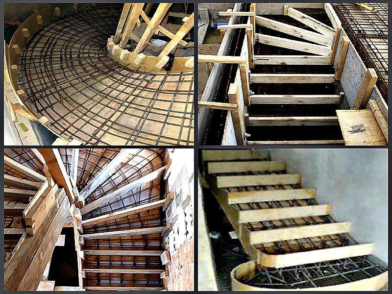 Подготовка опалубки под монолитную лестницу