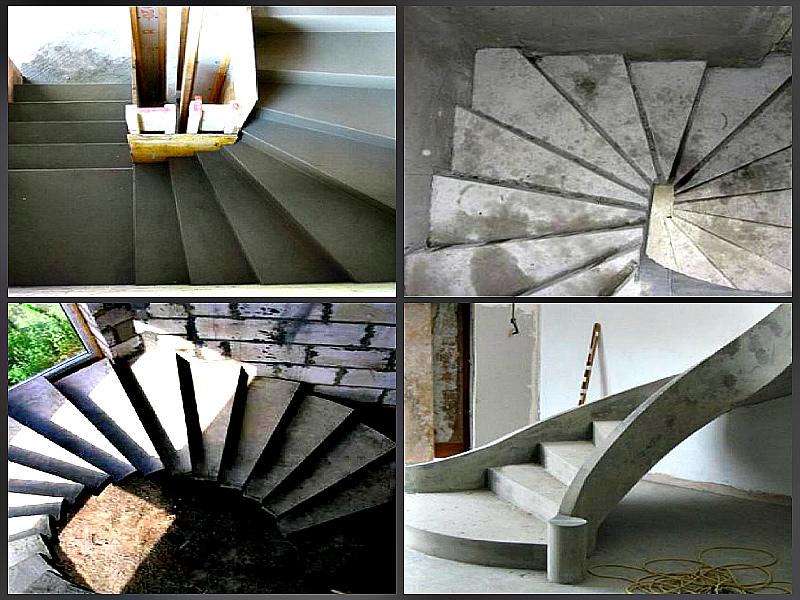 Бетонная лестница перед отделкой