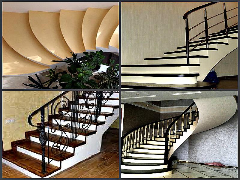 Монолитная лестница в жилом помещении
