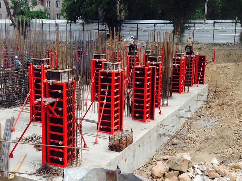 Съёмные опалубочные конструкции для изготовления колонн