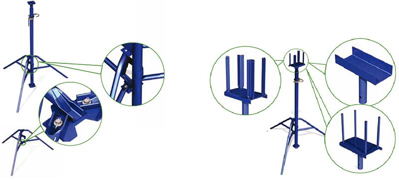 Унивилка и телескопическая стойка домкрата