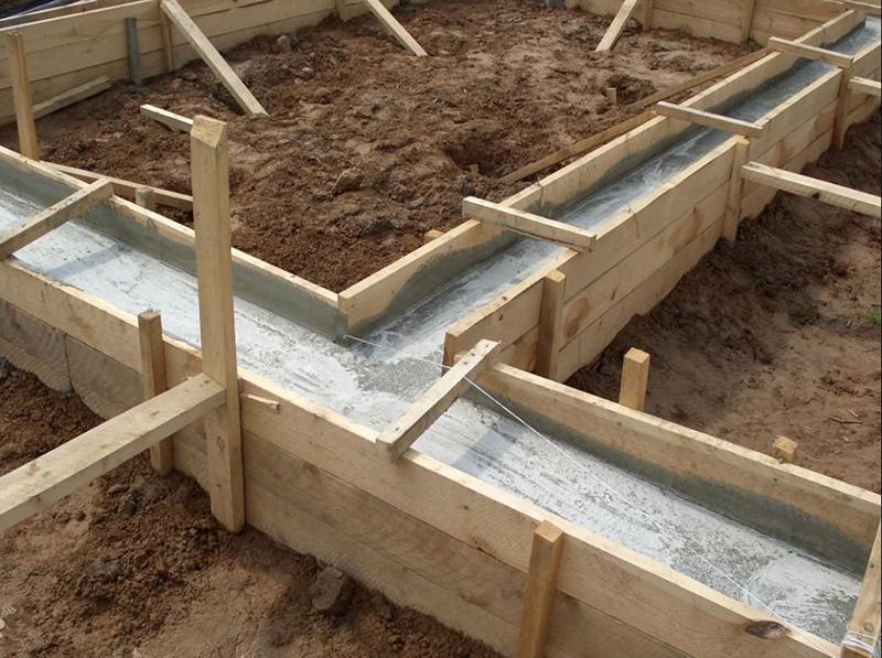Вид после заливки бетона