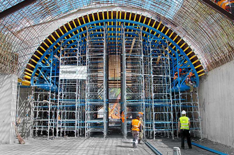Возведение арочных сводов с использование опалубки перекрытий