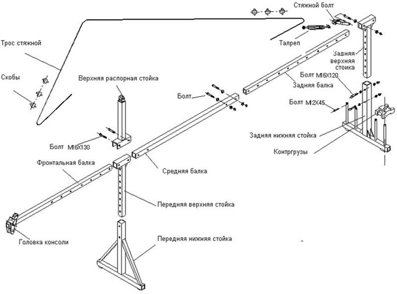 чертеж подъемного механизма