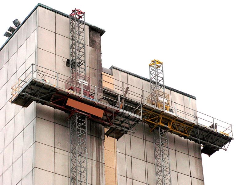 Для работы на серьезных высотах рекомендуются мачтовые подъемники