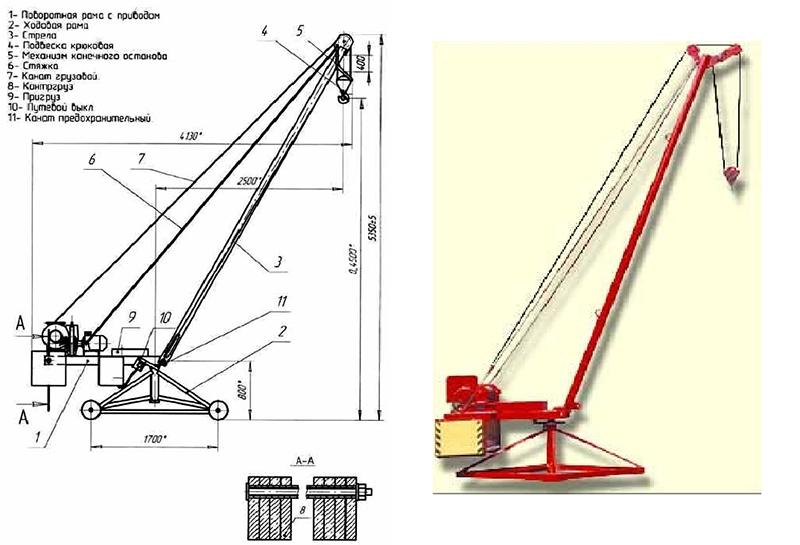 Схема крана Пионер г_п 500 кг