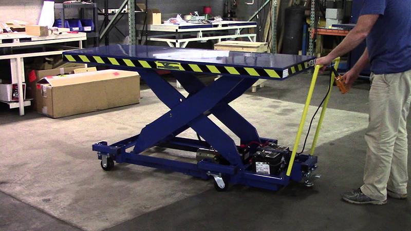 Подъемный стол гидравлический передвижной
